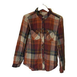 Adam Levine Red Plaid Button Front Shirt Small